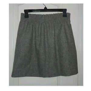 4 J. Crew Factory Gray Pleated Mini Skirt